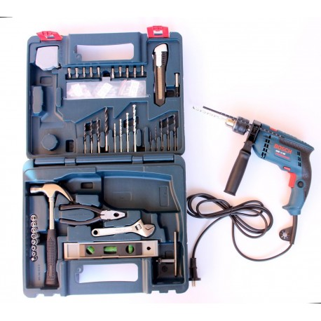 impact drill bosch gsb 13 re professional with smart kit. Black Bedroom Furniture Sets. Home Design Ideas