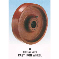 Rexello RD 2 series Castor with Cast Iron Wheel