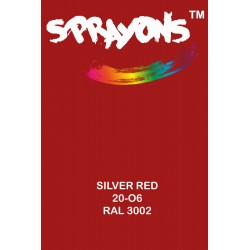 Sprayons Silver Red Spray Paint (Ral3002)