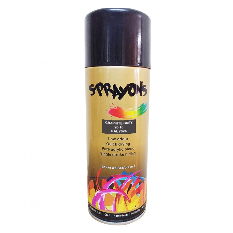 Buy Sprayons Graphite Grey Spray Paint Ral7024 Online Bohriali