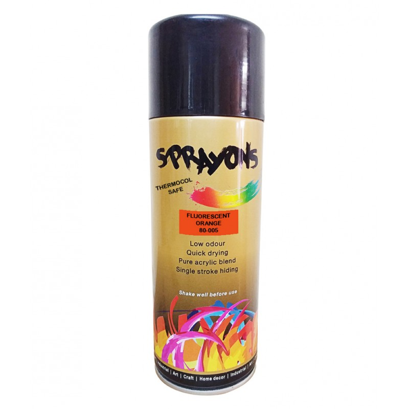 Buy sprayons fluorescent orange thermocol safe spray paint for Spray paint safety