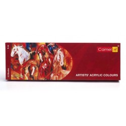 Camel Artists' Acrylic Colour 12 Assorted Colours Set (9ml Tubes)