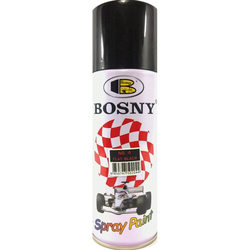 Buy Bosny Flat Black Spray Paint 400cc Online Bohriali