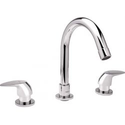 Tresco Oscar Three Hole Basin Mixer