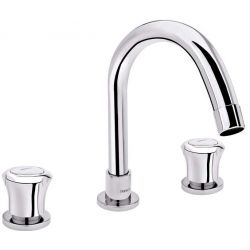Tresco Cosmo Three Hole Basin Mixer