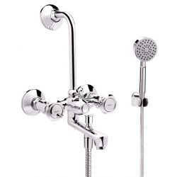 Tresco Cosmo Wall Mixer 3 In 1 With Bend