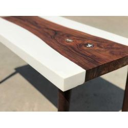 Sheesham White Resin Table by Poona Resin Company
