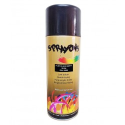 Sprayons Flatt Matt Black Spray Paint