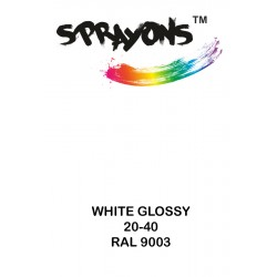 Sprayons White Spray Paint (Ral9003)