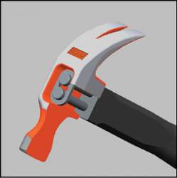 Groz Indestructible Handle Claw Hammer - 450 Gm Head