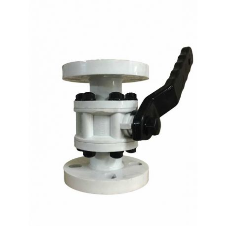 P.P. Ball Valve Flanged End (3pc design-Nut Bolt Body)