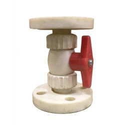 P.P. Ball Valve Flanged End (3pc design-Union type Body)