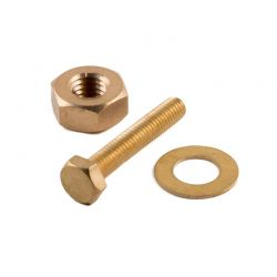 Liberty Brass Hex Bolt M5 (Length 15 - 50 mm)