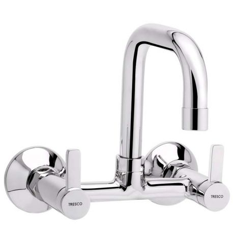 Tresco Arctic Sink Mixer With Swivel Spout
