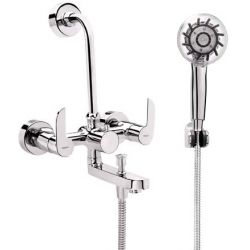 Tresco Oracle Wall Mixer 3 In 1 With Bend