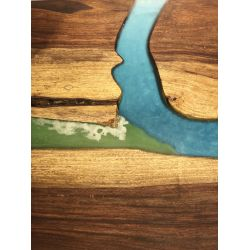Ganga Sangam River Table by Poona Resin Company