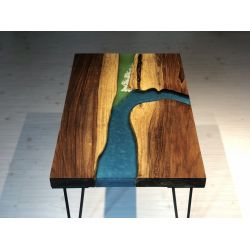 Ganga Sangam River Table by Poona Resin Table