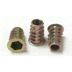 Threaded Inserts for wood and Screw pairs M8