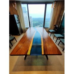 Ocean Blue Dining River Table (8' x4')