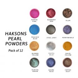 Haksons Pearl Powder - Pack of 12 colours